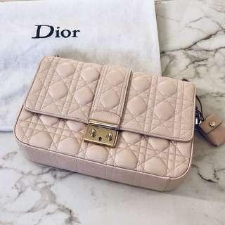 """Miss Dior""Pink leather handbag"