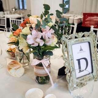 Jar Flowers Table Centerpiece