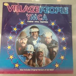"Village People ‎– Y.M.C.A. (New 1993 Remix), 12"" Single Vinyl, Arista ‎– 74321 177181, 1993, UK"