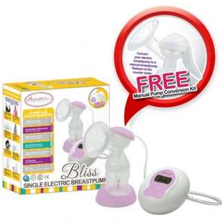 Autumnz - BLISS Convertible Single Electric/Manual Breastpump. (free manual pump conversion kit - new)