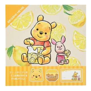 Japan Disneystore Disney Store Pooh & Piglet Origami Notepad