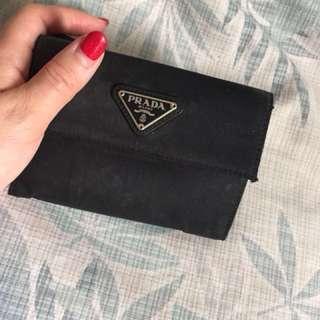 100% authentic Prada wallet black nylon