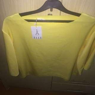 Elle blouse yellow
