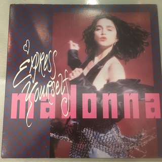 "Madonna ‎– Express Yourself / The Look Of Love, 12"" Single Vinyl, Sire ‎– 0-21225, 1989, USA"