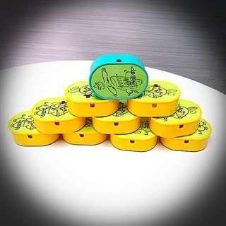 韓國絕版膠盒(十蚊三個) 有綠色和黃色