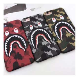 Bape A Bathing Ape Shark Mouth Camo Hard Case
