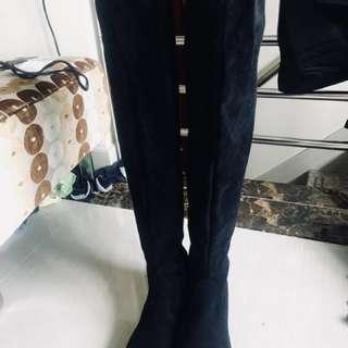 秋冬女裝過膝中踭長boot
