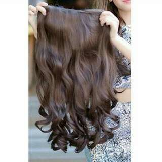 Hair Clip Wavy Lose 50cm (Light Brown)