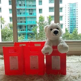 3 x Storage box (Red)