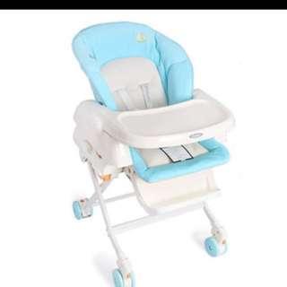 Baby bundle! ( pram, combi day bed n combi high chair!)