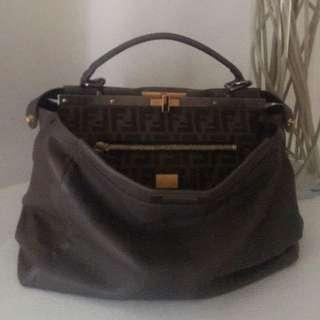 Authentic Fendi peekaboo large satchel (markdown)