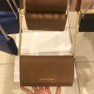 PRE-ORDER Authentic Michael Kors Wallet Phone Crossbody with Chain strap. ETA: Feb.25-28