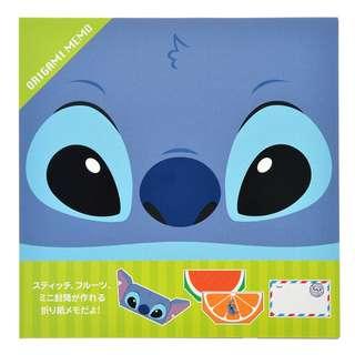 Japan Disneystore Disney Store Stitch Origami Notepad
