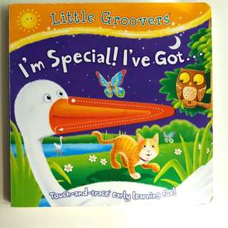 Board book with felt and grooves