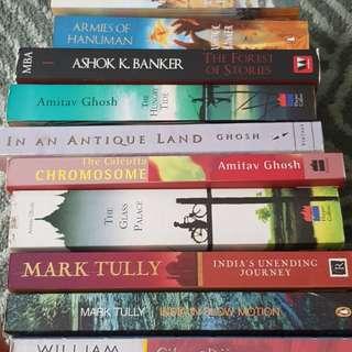 SGD 10 only for FULL SET of 10 books!!!PRELOVED Novels based on Indian theme