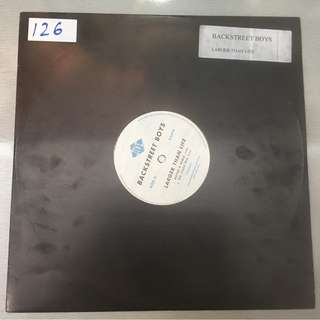 "Backstreet Boys ‎– Larger Than Life, 12"" Single Vinyl, Promo Copy, Jive ‎– 0550560.P2, 2001, USA"
