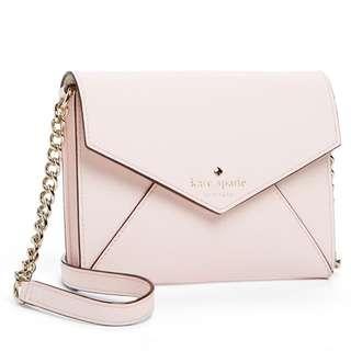 Kate Spate mini Envelope Crossbody bag Pink