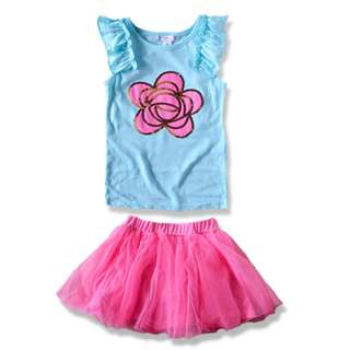 Imported Europe Piper 2pcs Girl set 4-12y