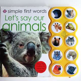 Interactive First Words Animals Book