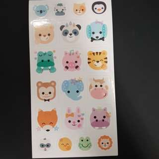 (A2) BN Cute Animal Face Stickers