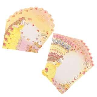 Japan Disneystore Disney Store Belle Princess Party Letter Set