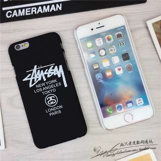 Black matte Stussy iPhone Case