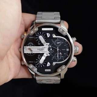 Jam tangan diesel monster grey 5,7cm super elegant
