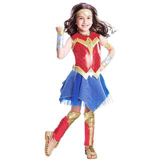 Wonder Woman Cosplay Costume Deluxe Girl Movie Costume 3-10y