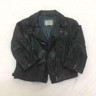 Bershka genuine leather jacket