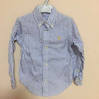 Wore 1x Only - 2 years Authentic Polo Ralph Lauren boys shirt