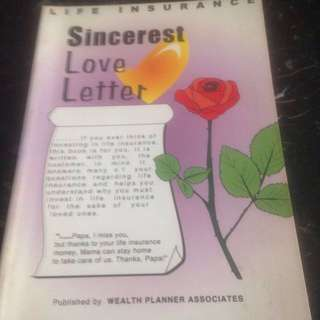 Sincerest Love Letter (Why you must invest in life insurance for the sake of loved ones) An objective view