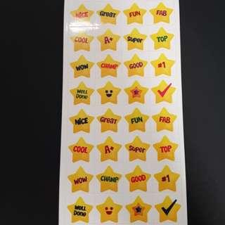 (N11) BN Reward/Merit Stars Stickers
