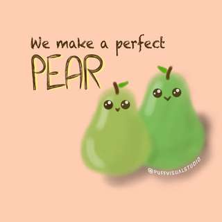 🍐 Pear Art Card (Customizable)