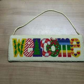Colorful Welcome Wall Hanging Decor