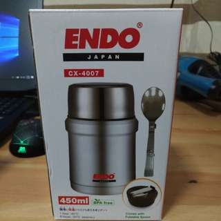 Endo stainless steel food jar