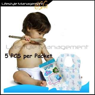 Baby Disposable Feeding Bibs (5pcs/pack)