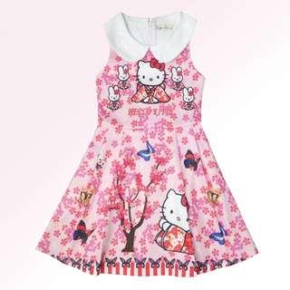 NEW - hello kitty cny pink dress
