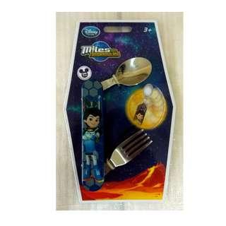 全新 正版迪士尼 Disney Miles 麥爾斯 二合一餐具 (湯匙+叉子)