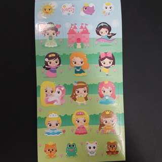 BN Sweet & Cute Princess Stickers