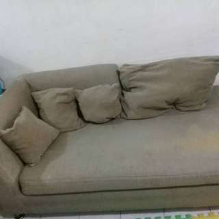 Pre loved L-type shape sofa