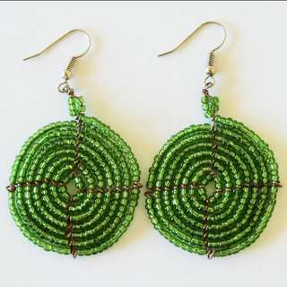 Green Afrix Earrings
