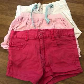 3 pcs girls shorts $5