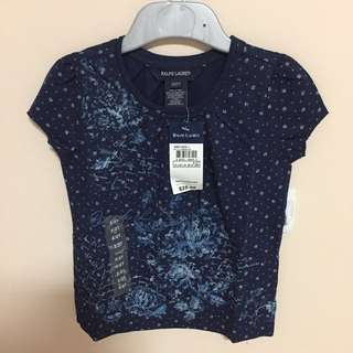 SALE 55% Off - 2 years BNWT Authentic Polo Ralph Lauren baby girls print top