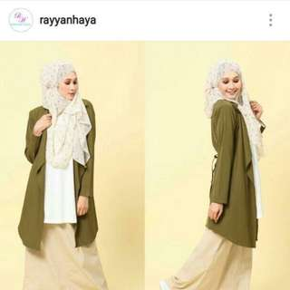 (inc Postage)Long Cardigan By Rayyanhaya