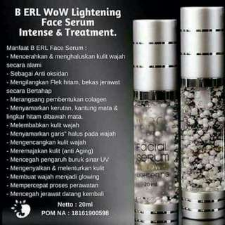 B ERL Cosmetic WoW Lightening Facial Serum Intense & Treatment
