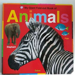 Giant Fold-Out Book of Animals