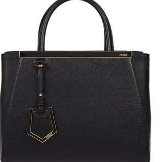 Fendi Du Jours black with gold hardware.