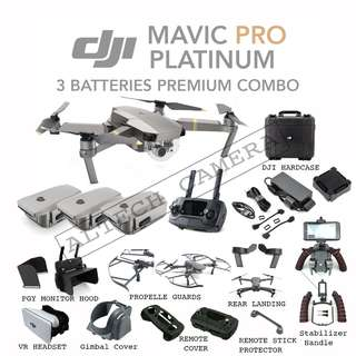 New DJI Mavic Pro Platinum 3 Batteries Premium Combo READY STOCK