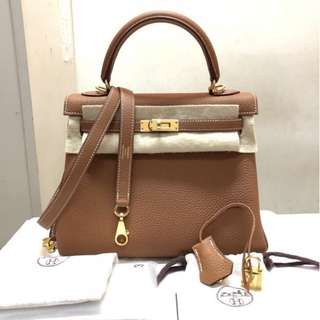 Authentic Hermes Kelly 28 Gold