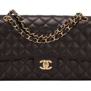 Chanel caviar medium classic flap bag with ghw
